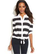 tie hem striped shirt suppliers