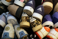 liquidation used brand name sneakers