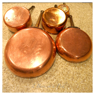used brass pots shelf pulls
