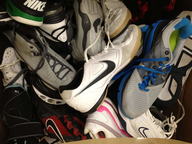 washed sneakers shelf pulls