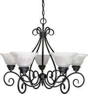 white and black chandlier deals