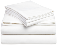 discount white bed sheets