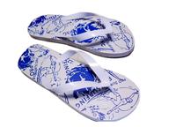 white blue used flipflops deals