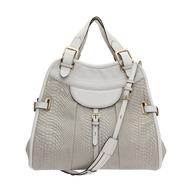 overstock white gold handbag