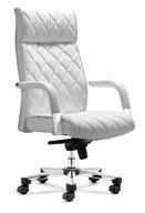 liquidation white leather desk chair