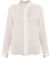white long sleeve silk blouse truckloads