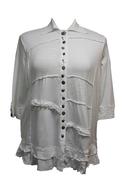 white rippled plus size shirt truckloads
