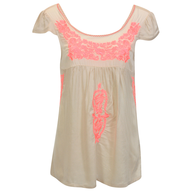womens blouse beige closeouts
