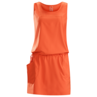 womens orange dress closeouts
