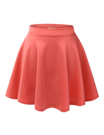 womens orange skirt closeouts