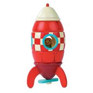 wooden toy rocket in bulk