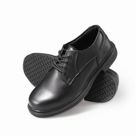 discount work black shoes