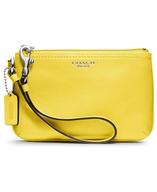 yellow coach wallet bag lots