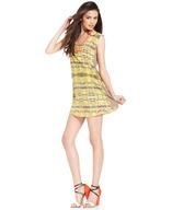 yellow tribal print dress deals